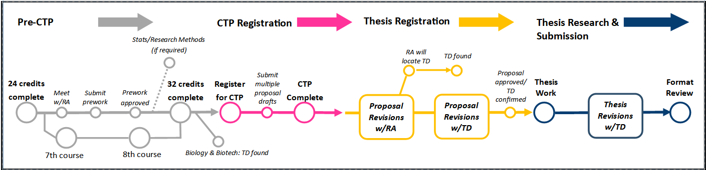 Thesis process graphic