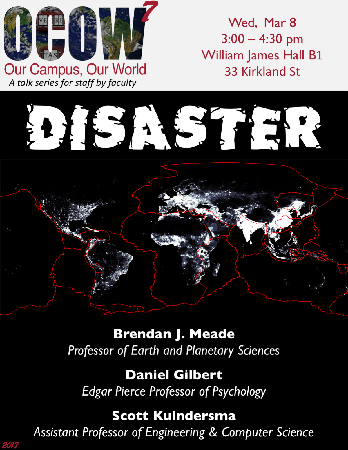 Poster for Our Campus, Our World on Disaster 7