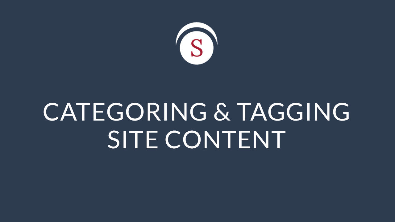 Categorizing Site Content