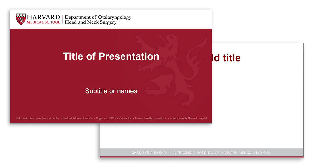 Red Harvard Otolaryngology PowerPoint template