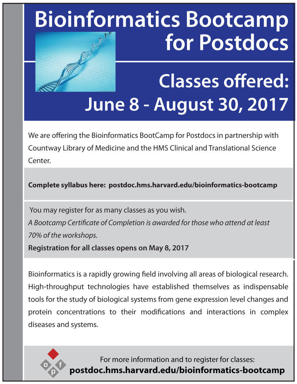 Bioinformatics Bootcamp Flier