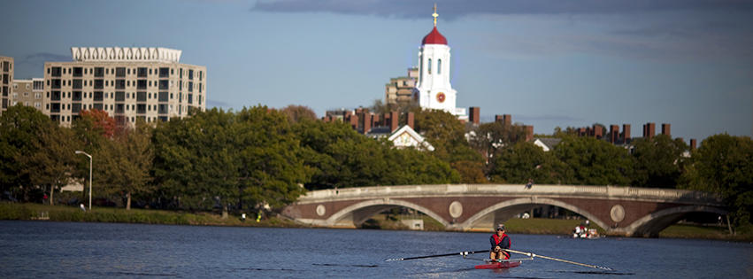 Charles River view of Harvard University
