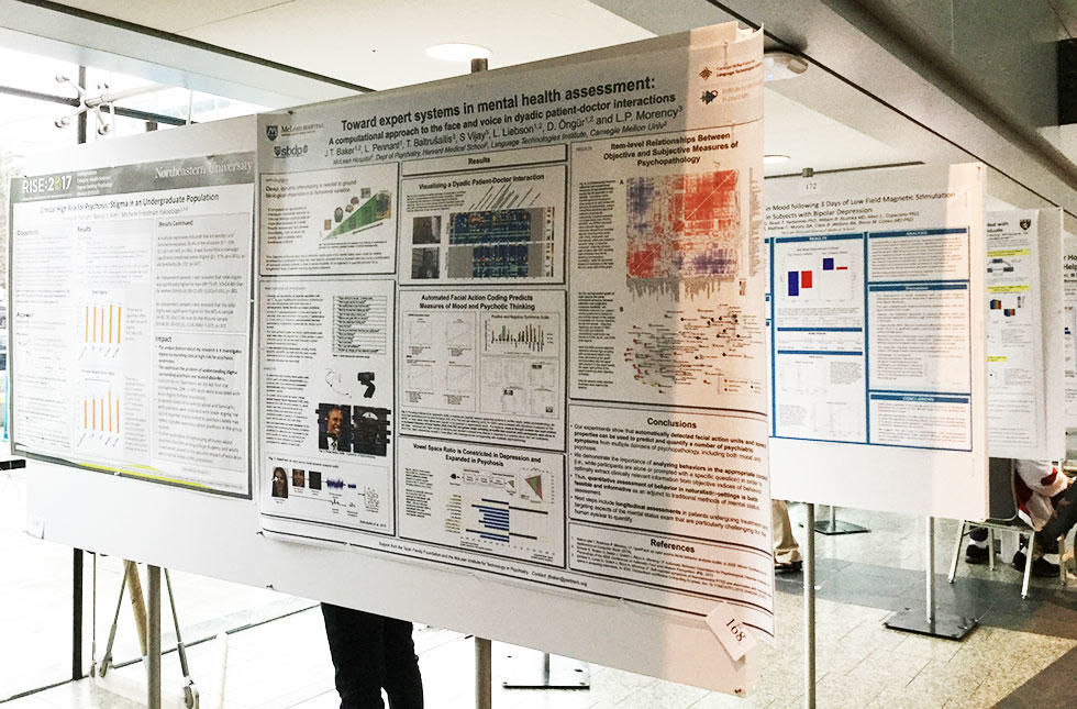 Psychiatry research poster displayed at the 2017 Harvard Psychiatry Research Day Poster Session