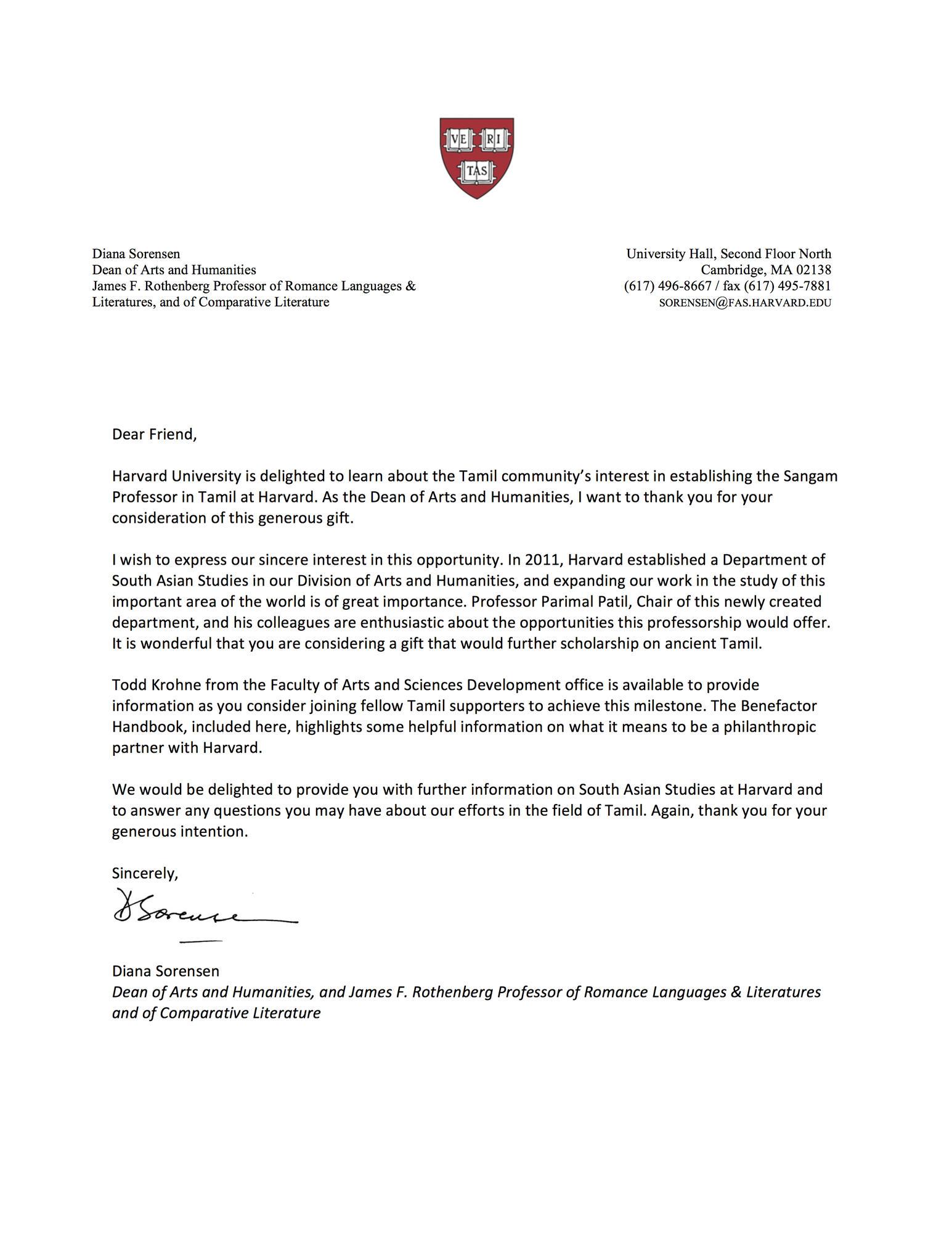 Overview Sangam Professorship In Tamil At Harvard University