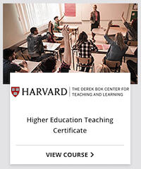 Higher Ed Teaching Certificate