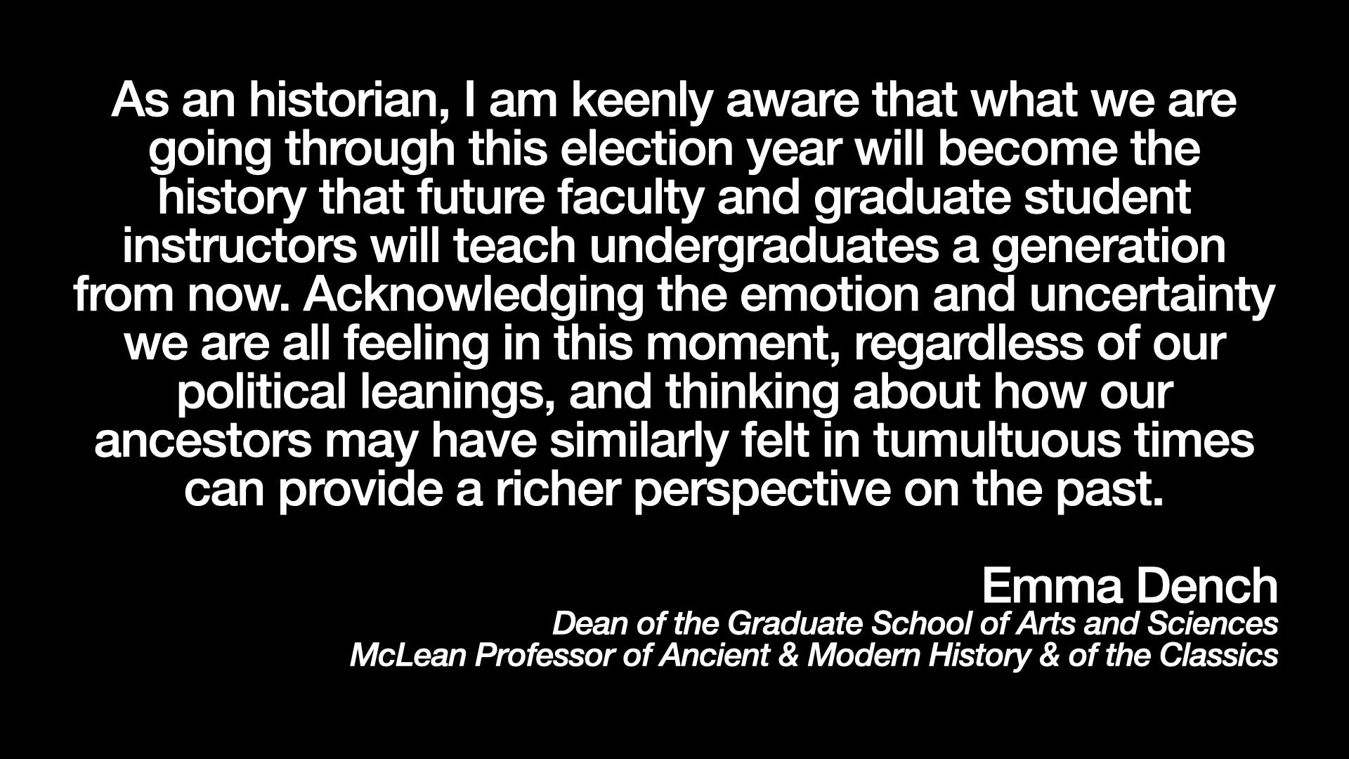 Emma Dench on Elections