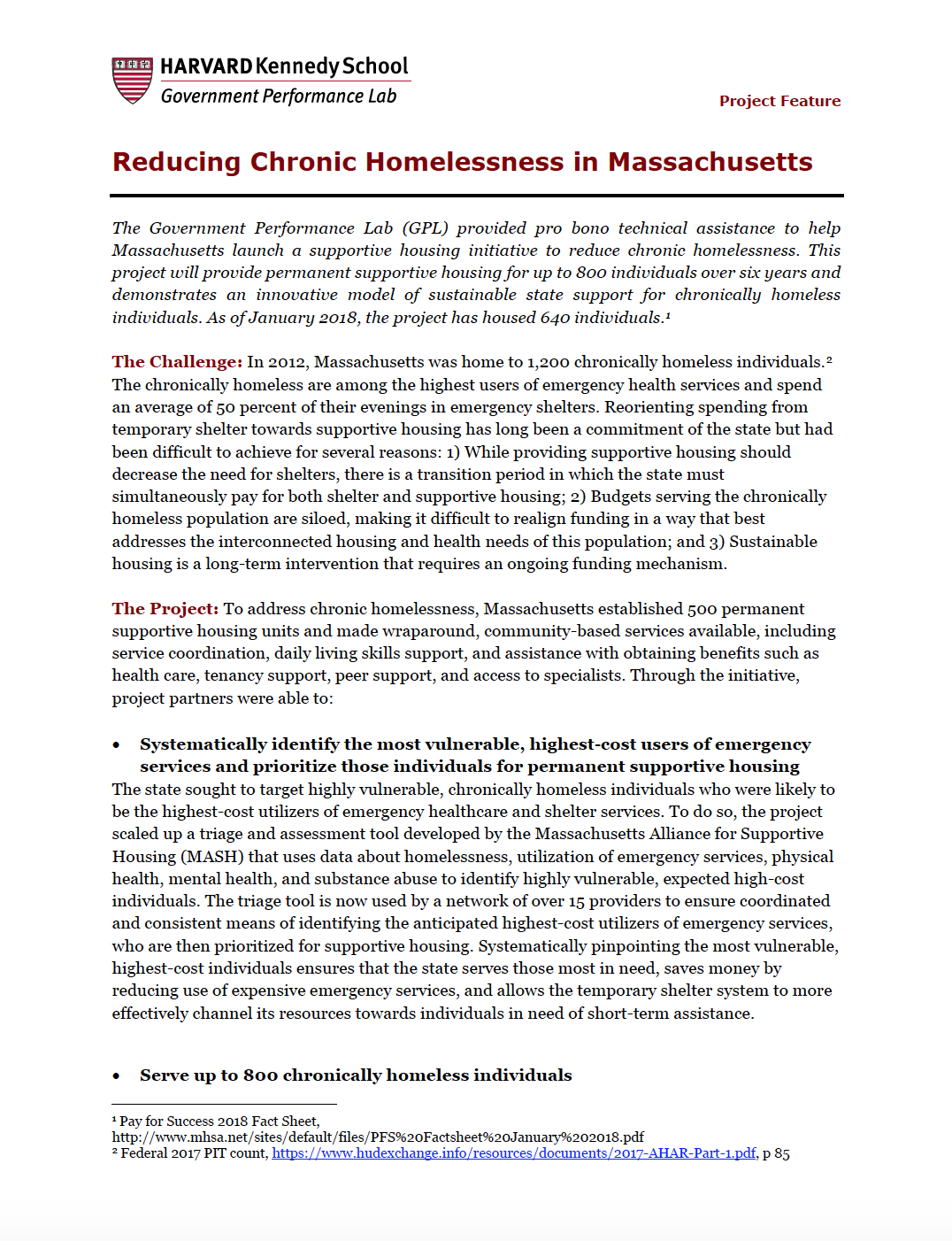 Massachusetts Homelessness