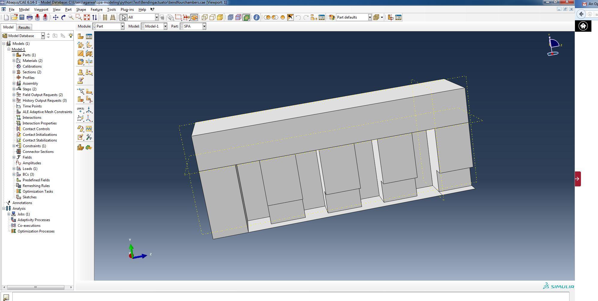 Demo 1: Multi-Chamber Bending SPA | Soft Robotics Toolkit
