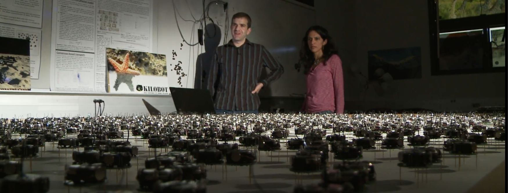 Kilobots with Mike and Radhika