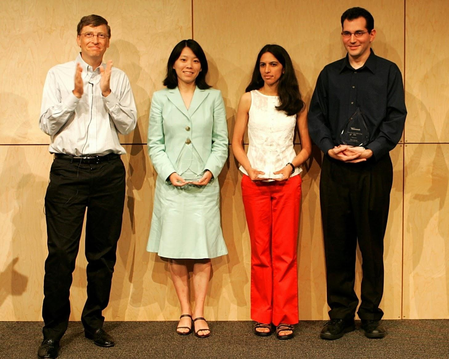 Microsoft New Faculty Fellowship Award, 2005 (w Bill Gates)