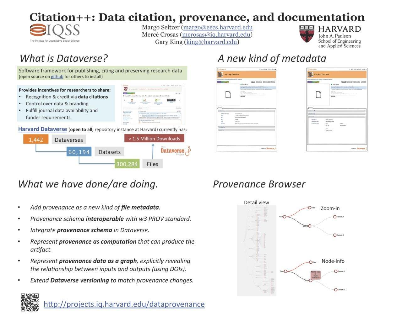 Citation ++: Data citation, provenance and documentation