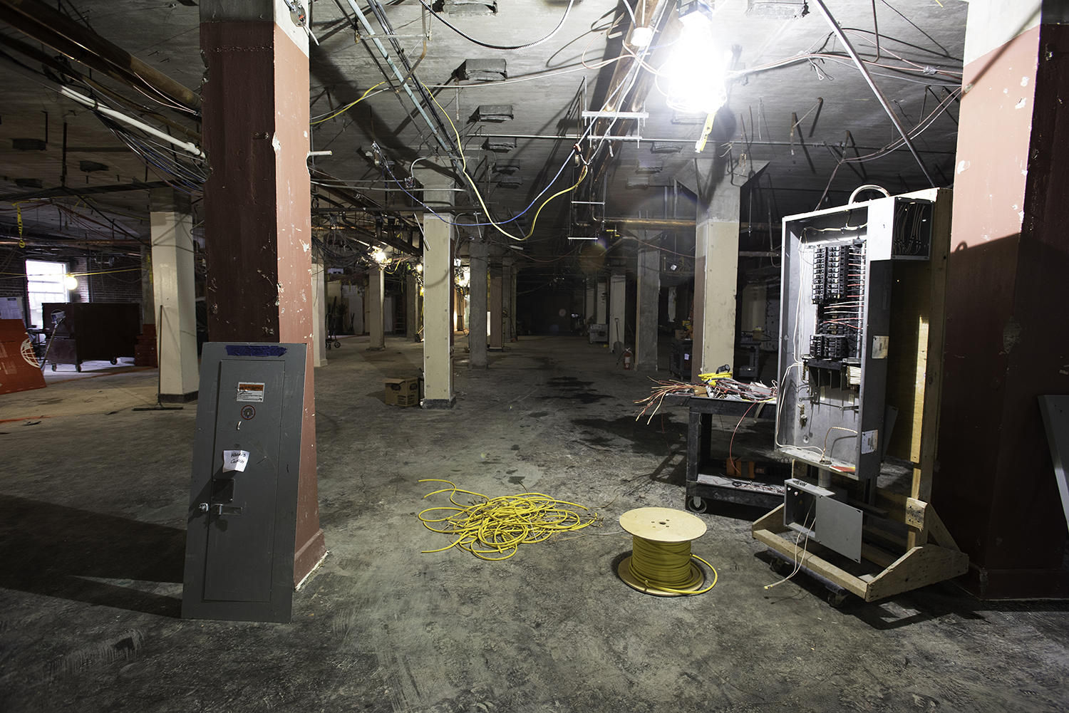 The ground floor of the church following demolition in June.