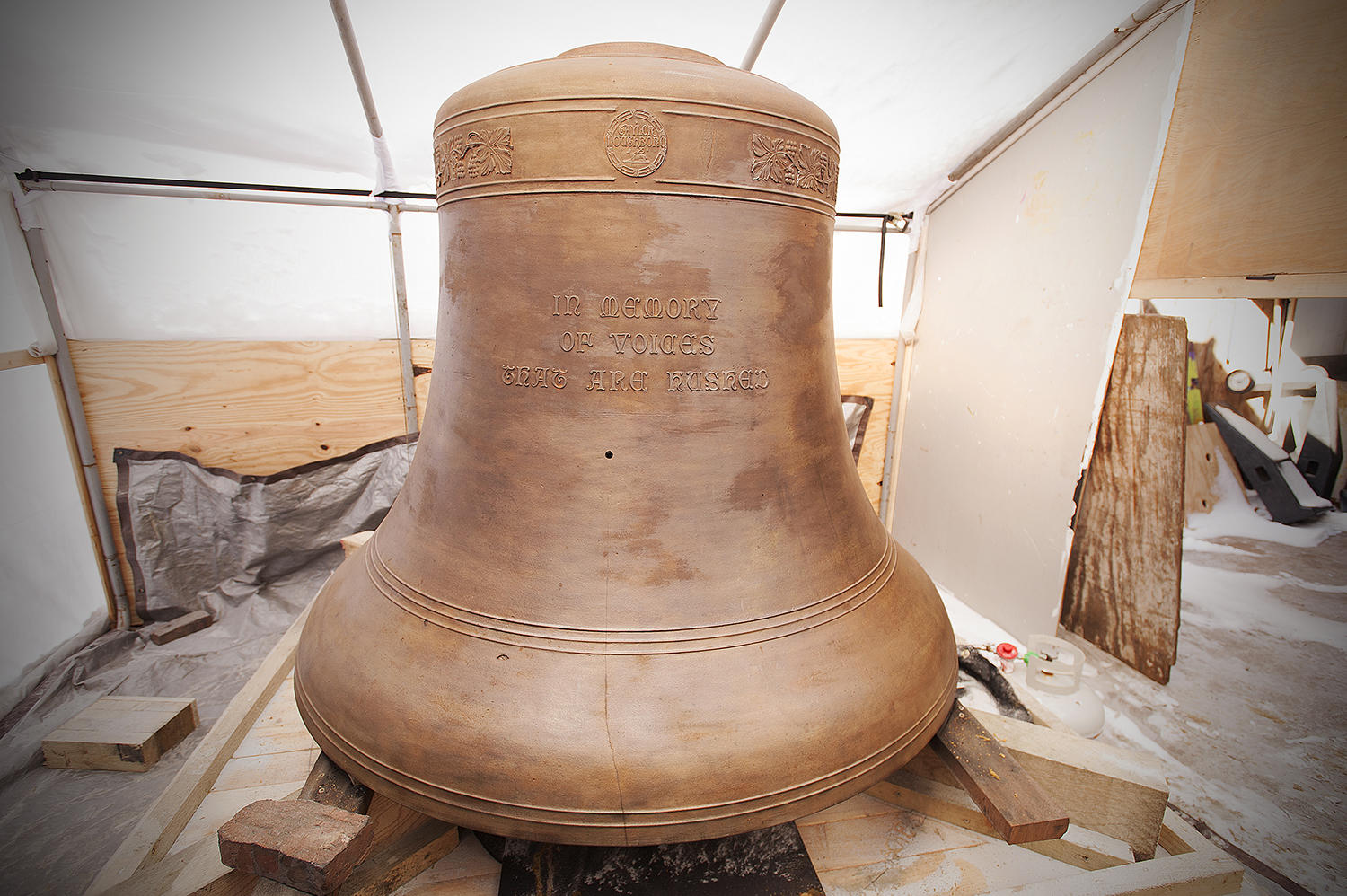 Memorial Church Bell during restoration