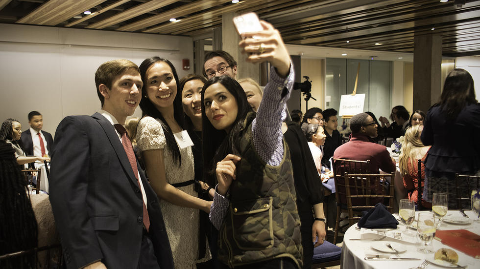 Students take a selfie