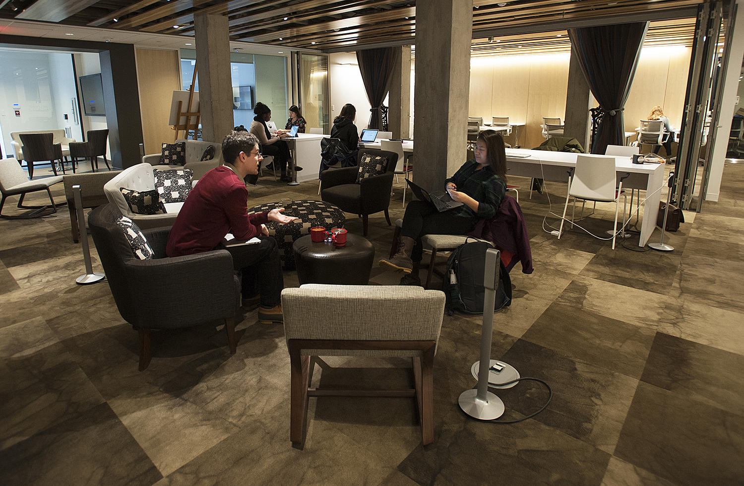 Students settle into the new Student Oasis