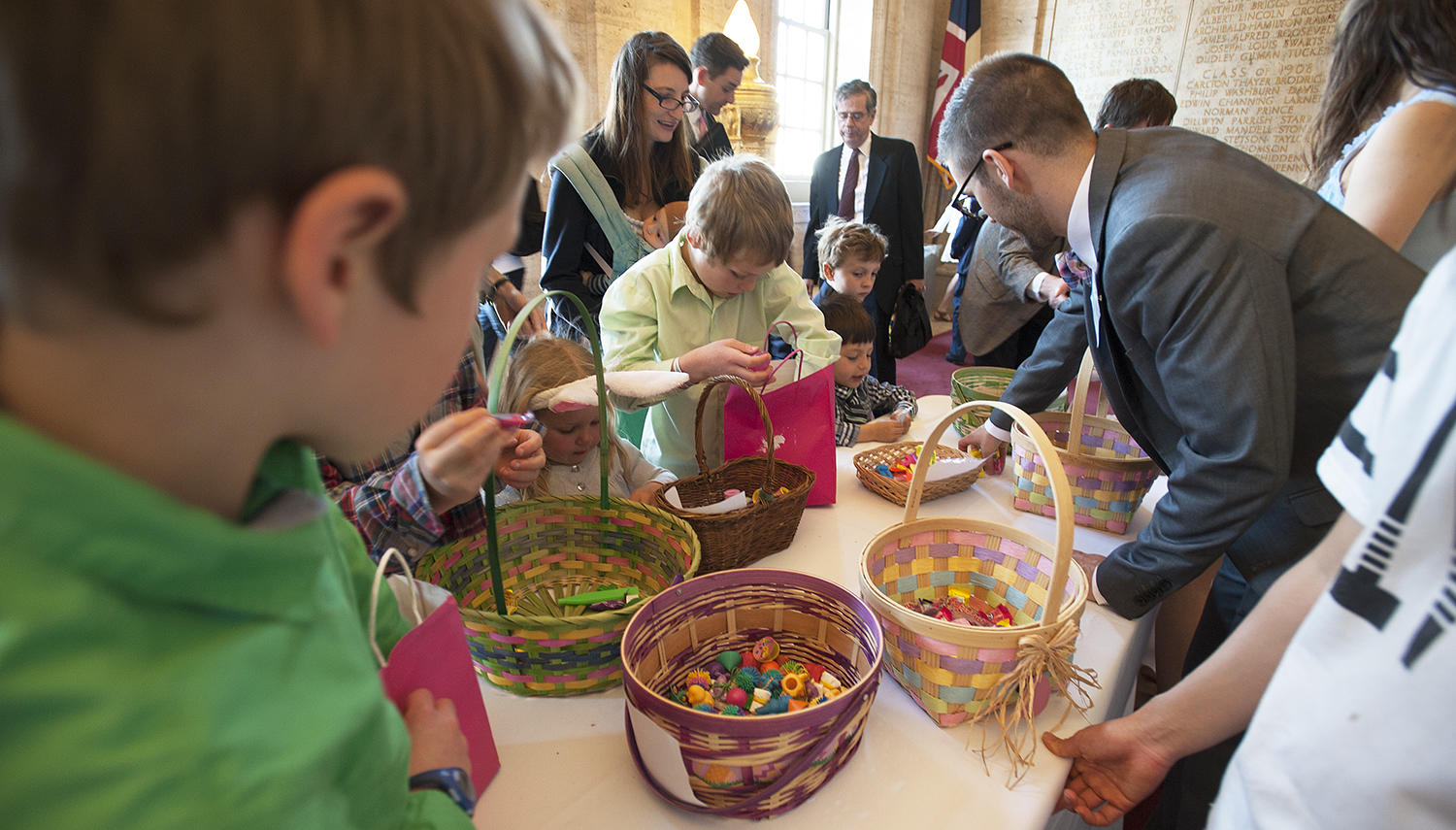 Church School Children collect Easter Eggs
