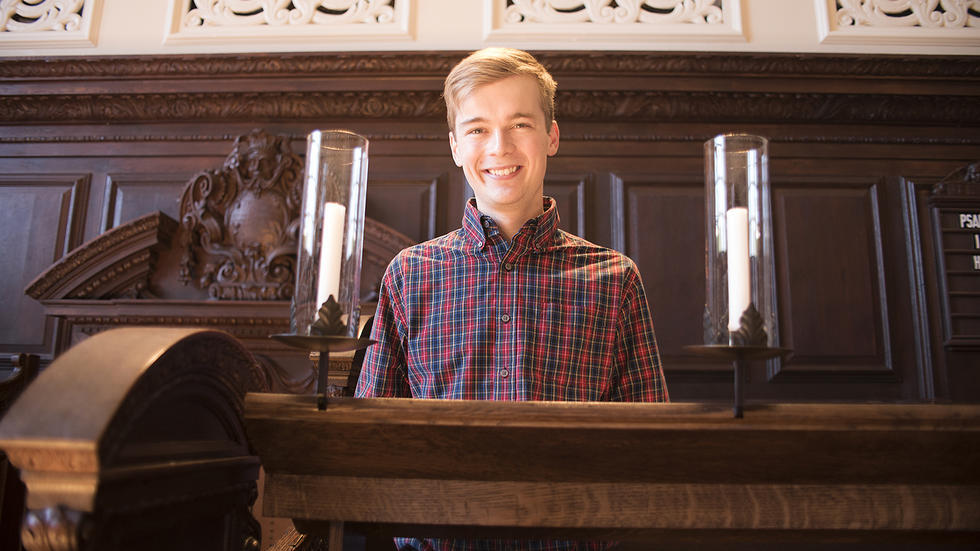 Andy Troska '17, University Choir Senior Secretary speaks at Morning Prayers