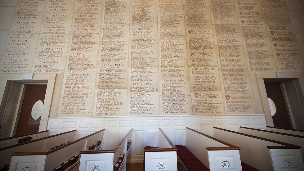 World War II Memorial in the Sanctuary