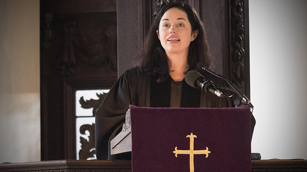 The Rev. Alanna C. Sullivan preaches at Sunday Services