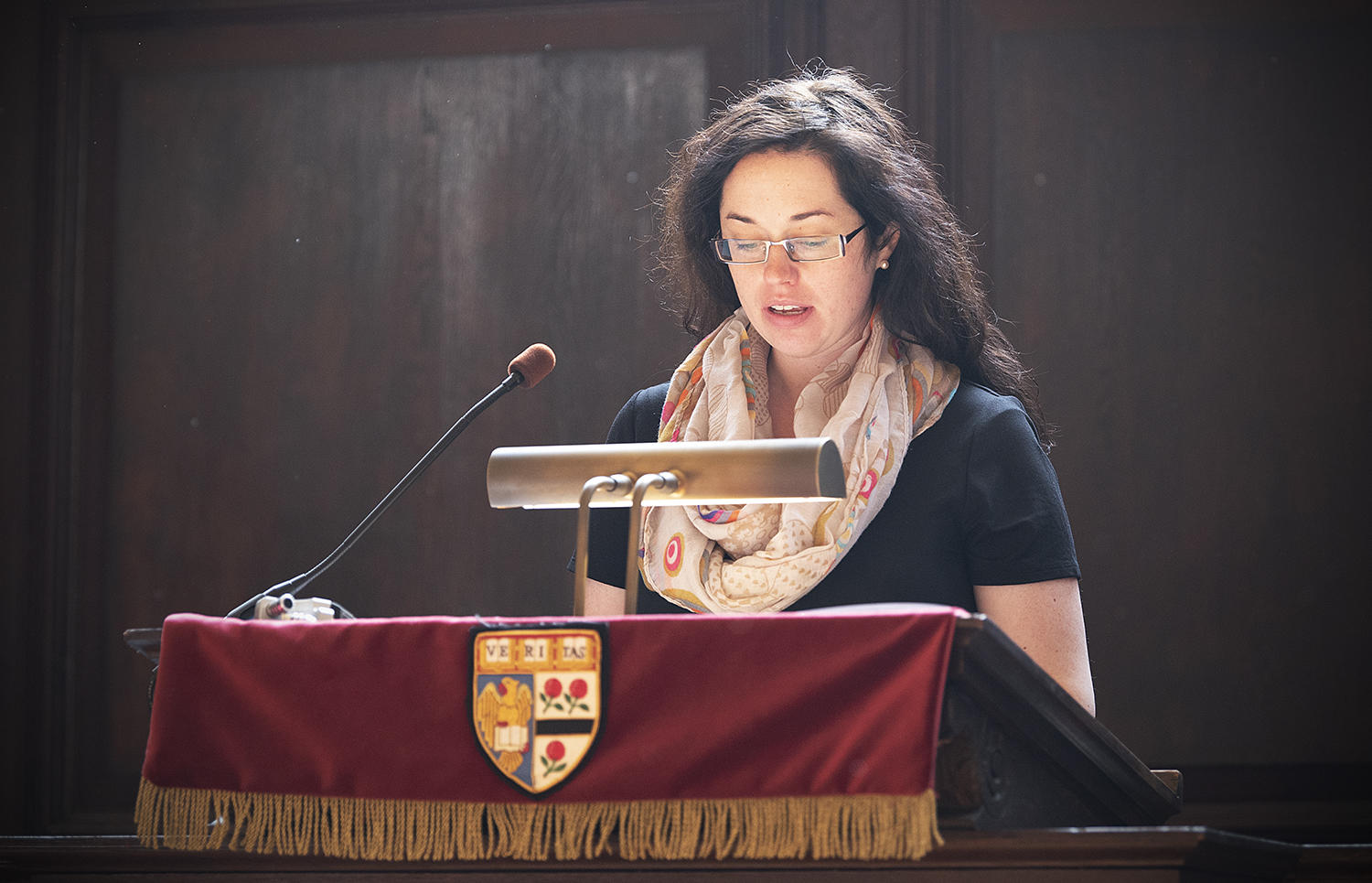 Alanna Sullivan speaks at Morning Prayers