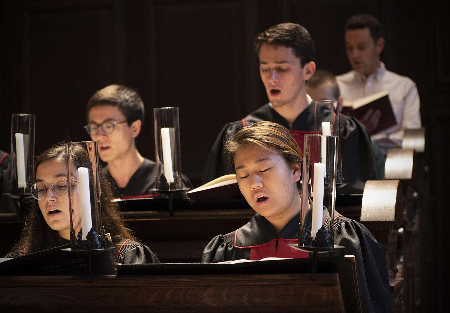 May Wang '20, a member of the Choral Fellows sings at Morning Prayers