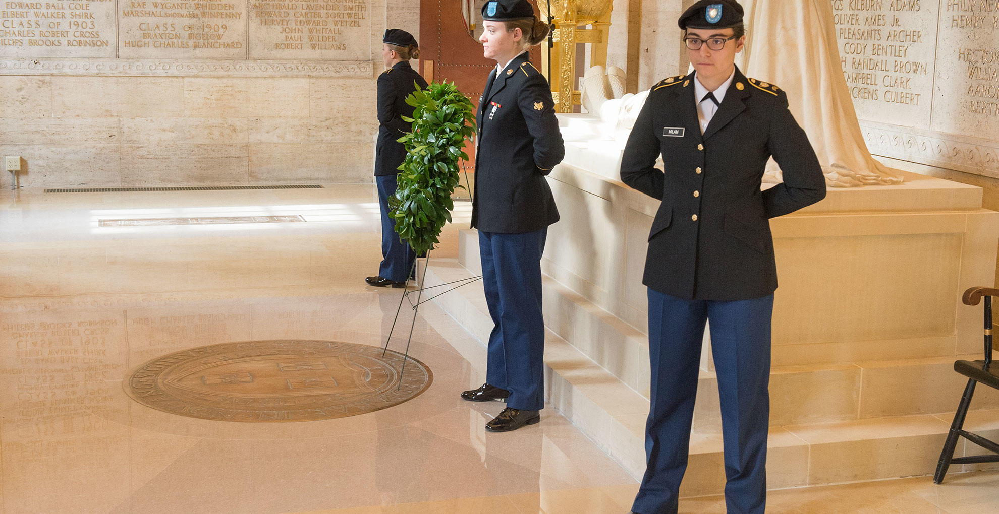ROTC in the Memorial Room