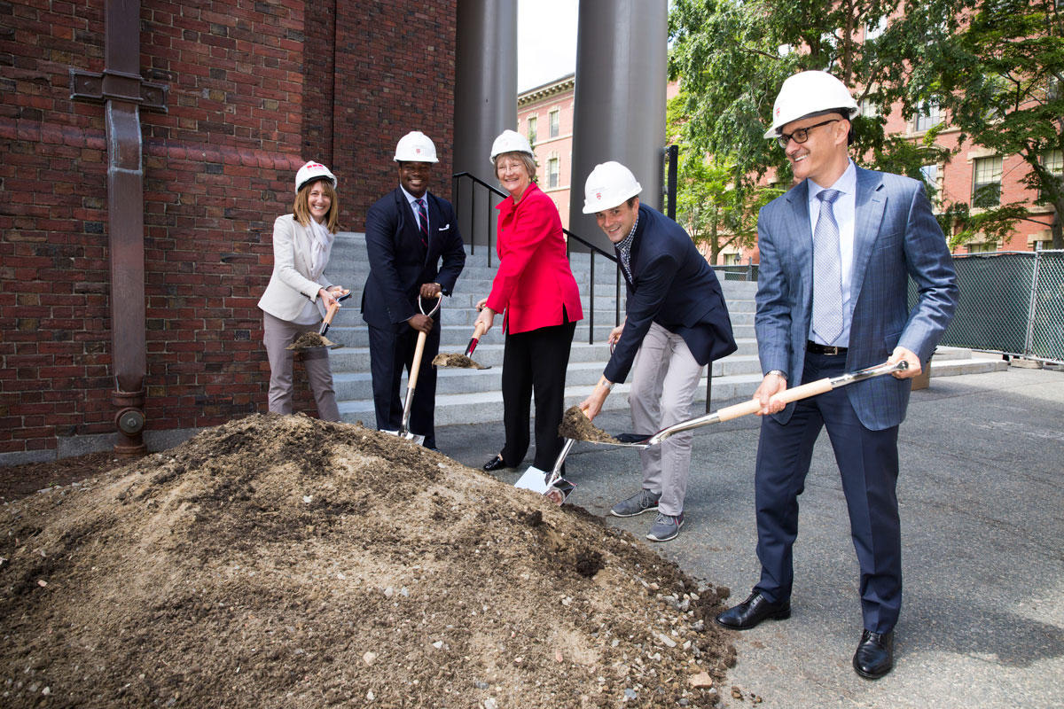 Photo of MemChurch renovation groundbreaking ceremony