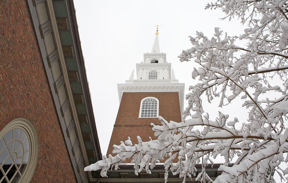 Memorial Church in winter