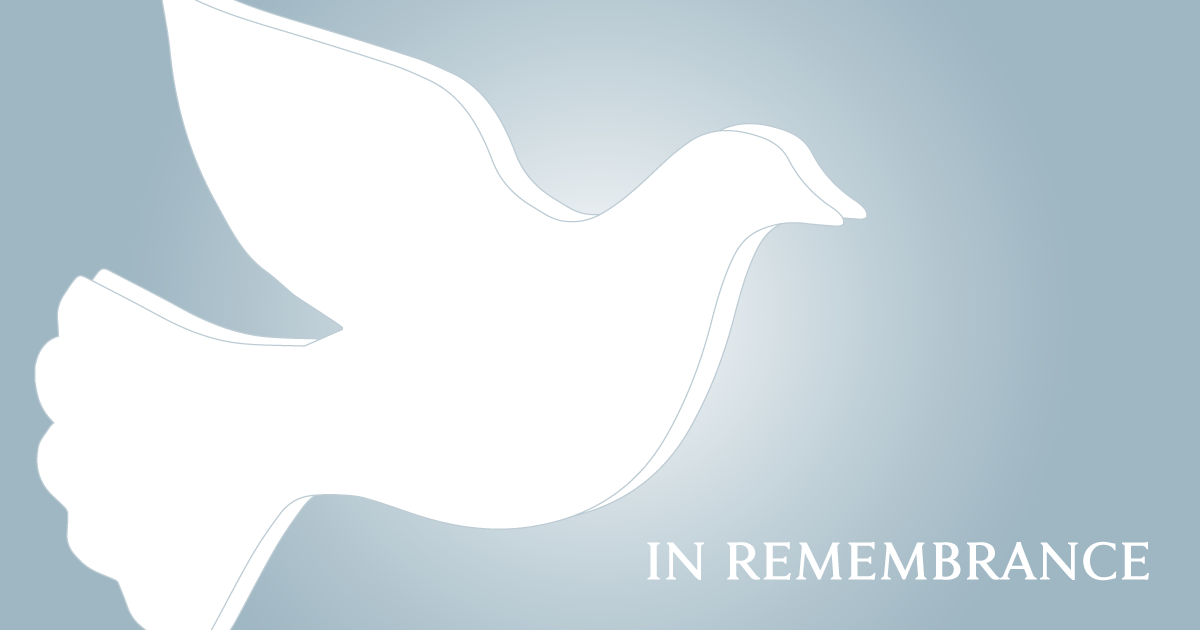 Dove, in remembrance