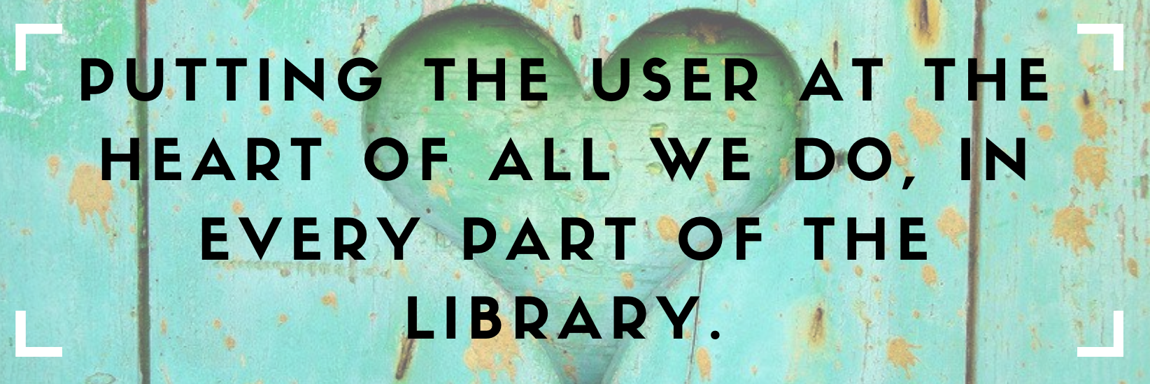 Putting the user at the center of all we do