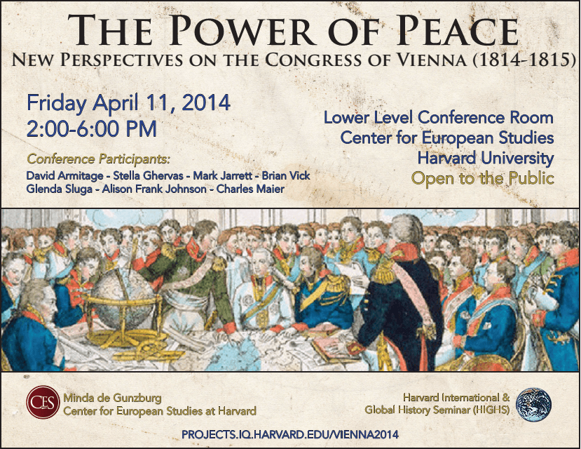 Organized by David Armitage (Department of History & CES, Harvard) and ...