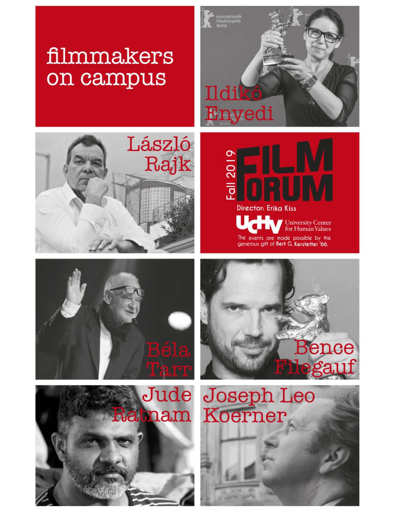 Fall 2019 Filmmakers on Campus