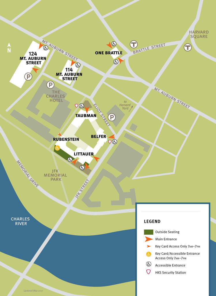 Harvard Kennedy School Campus Map