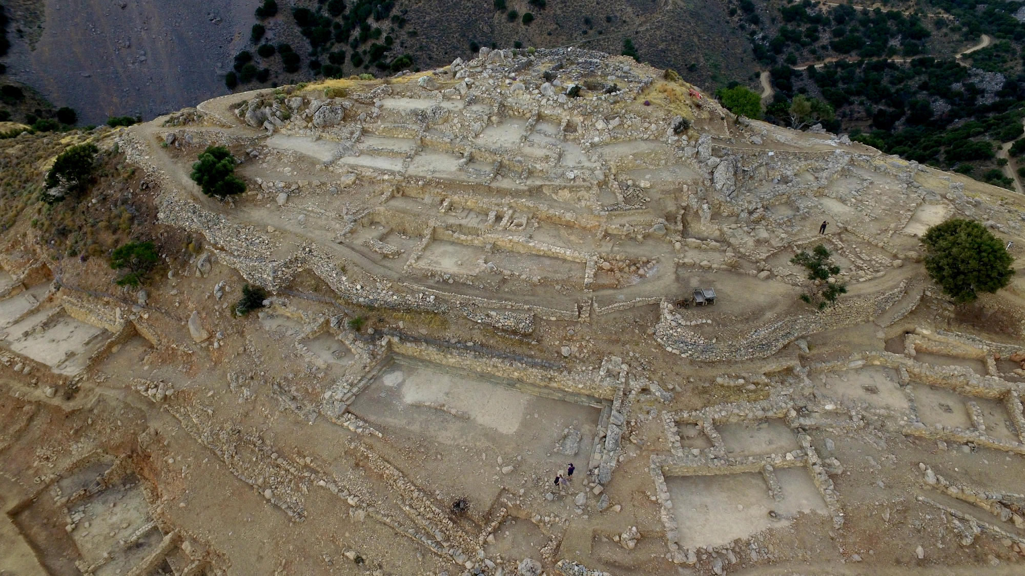 Aerial view of South Acropolis (Azoria Project)