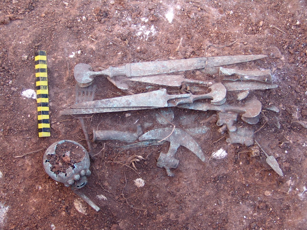 Sangtarashan, 2004, package of objects including weapons and vessels