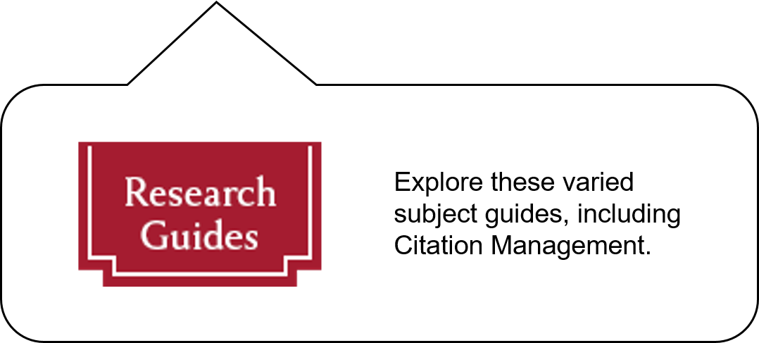Research Guides : Explore these varied subject guides, including Citation Management.