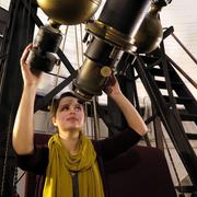 Lindsay Smith, acting curator of the Plate Stacks at the Harvard College Observatory