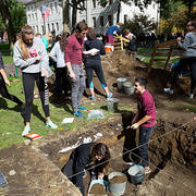 Archaeology of Harvard Yard on 'Stuff You Missed in History Class'