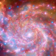 Screen capture of galaxy image from video