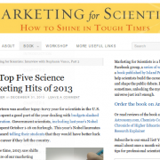 "ComSciCon included in top five ""Science Marketing Hits"" of 2013"
