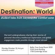 Destination World Event Poster