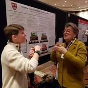 Kate Henninger and Nancy Frishberg at the poster