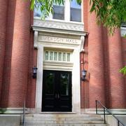 emerson hall entrance in spring