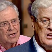 Charles and David Koch are pictured.