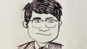 Sketch of Prof. Yuhua Wang_by Cheng Cheng