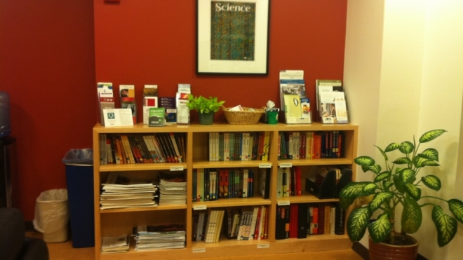 The Postdoc Office Lounge has a lending library of career resources for Quad Postdocs