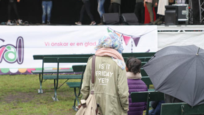 Image of a public Eid Festival in the Malmö People's Park