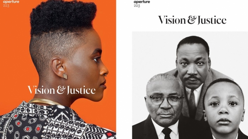 "The two covers of Aperture Magazine's Summer 2016, ""Vision & Justice"" issue."