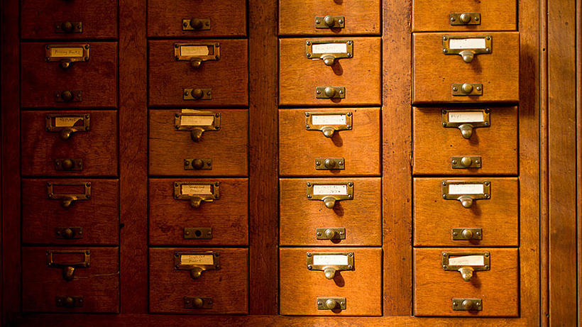 Oak Card Catalogs