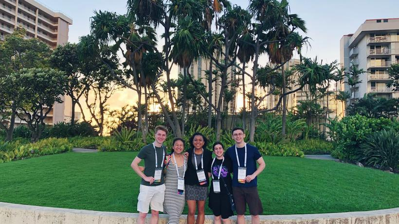 Undergraduates at 2020 AAS Meeting, Honolulu, HI